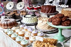 Magnolia Bakery --- We could use our counter space in the front to display bakery goods in bell jars!