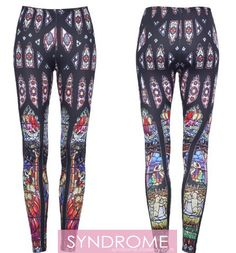 SYNDROME | Church StainedGlass Leggings, $20