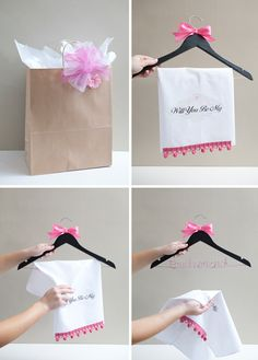 Unique way to ask: Will you be my Bridesmaid? Personalized dress hanger!!!