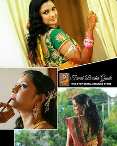 33 Ideas For South Indian Bridal Saree Blouse Hairstyles – - New Site South Indian Makeup, Indian Bridal Makeup, Indian Bridal Outfits, Simple Bridal Shower, Chic Bridal Showers, Bridal Shower Rustic, Bridal Sarees South Indian, South Indian Bridal Jewellery, Bridal Jewelry