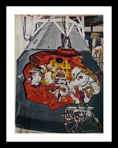 Items similar to Illustrated Apollo 1 Capsule Cutaway 'We're on Fire' Story Photos Tragedy Apollo 1 Fire Grissom Chaffee White Astronauts 1969 13 x 10 on Etsy Cool New Tech, Apollo Spacecraft, Apollo Space Program, American Space, Apollo 1, Space Race, Our Solar System, Space Shuttle, Space Exploration