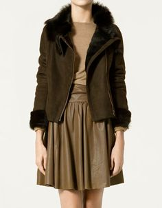 "Zara ""Leather Double-sided Belted"" Coat"