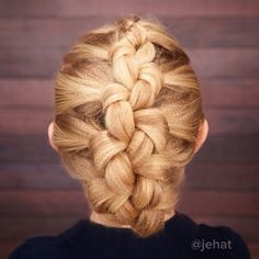 Textured Knotted Braid! This one is one of my favorites & stays in amazingly!  #twinshair #hairinspiration #hairstyles #cutegirlshairstyles #hairart
