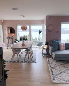 Sala de jantar: 100 projetos encantadores para você se inspirar - Home Living Room Interior, Home Living Room, Living Room Decor, Bedroom Decor, Wall Decor, Dining Room Design, Dining Room Furniture, Interior Design, Design Design