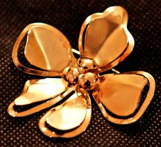 Yellow Gold Pansy Flower Brooch by GenusJewels on Etsy