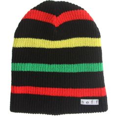 Neff Daily Stripe Beanie (black / rasta) NF00007-BRS - $16.00