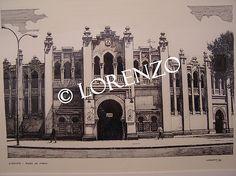 Albacete, Plaza de Toros. Dibujo a plumilla sobre papel
