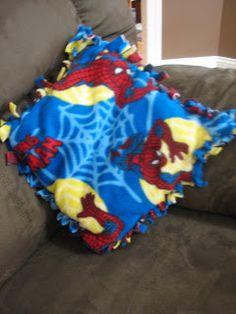Ramblings Of A Crazy Woman No Sew Fleece Pilllow And Blanket Or Sleeping Bag