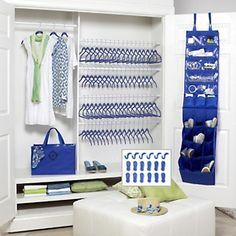 Tiffany Blue (turquoise)  Great Price! Joy Mangano Huggable Hangers® 94-piece Organize Everything Set! - Chrome at HSN.com.