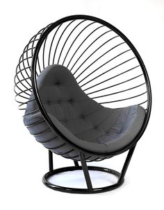 Wire Bubble Chair by Rousseau Design in black (http://www.pinterest.com/AnkAdesign/collection-6/)
