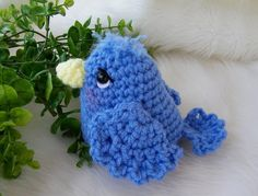 #FreeCrochetingPattern - Simply Cute Blue Bird - click the image to get the free instant download of the pattern
