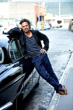 Mark Ruffalo Poses for a portrait on the set of 'How Can a Song Save Your Life' on August 3 2012 in New York City