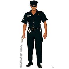 Police Officer Adult Mens Costume – USD $ 119.99