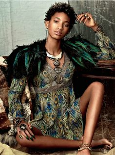 Willow Smith grows up and goes glam in Tom Ford and Kenzo in fashion spread