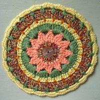 Crochet Mandala Wheel made by  Gail, USA for yarndale.co.uk