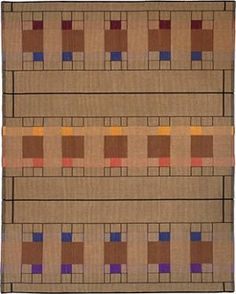 Arts & Crafts designs for handwoven rugs and other textiles. Order an existing pattern or work with artist Kelly Marshall to plan a new design or size.