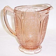 Jeannette Pink CHERRY BLOSSOM 6 3/4 In Ftd AOP PITCHER.   Such a lovely piece.