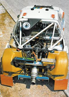 A look inside the packed engine compartment of the legendary Peugeot Sport  205 T16 #WRC #GroupB #Peugeot