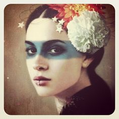 """tombagshaw: """" Crop of my piece for 's upcoming 'Pixel Portraits' show… """" Osho, Color Photography, Portrait Photography, Collages, Portraits From Photos, Surreal Portraits, Chiaroscuro, Mode Inspiration, Portrait Art"""