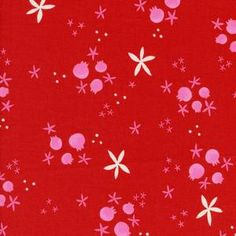 Cotton and Steel House Designer - Tinsel - Winter Pomegranates in Red