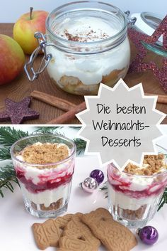 Christmas Recipes The best Christmas desserts Best Christmas Desserts, Winter Desserts, Apple Desserts, Dessert Recipes, Christmas Drinks, Christmas Christmas, Puff Pastry Recipes, Food Lists, Food Inspiration
