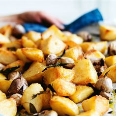 Try this Crunchy Roast Potatoes recipe by Chef Donna Hay. This recipe is from the show a donna hay christmas.