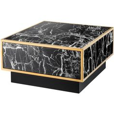 Eichholtz Concordia Hollywood Regency Black Faux Marble Square Coffee... ($3,848) ❤ liked on Polyvore featuring home, furniture, tables, accent tables, eichholtz, square accent table, faux marble coffee table, fake marble table and ebony table