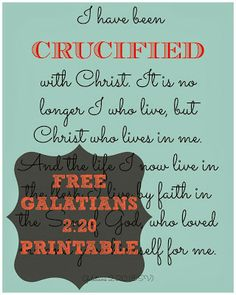 Free {Galatians 2:20} Printable Rachel's favorite verse