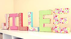 DIY : fabric covered letters (by One Good Thing By Jillee) Fabric Covered Letters, Fabric Letters, Diy Letters, Letter A Crafts, Crafts To Make, Easy Crafts, Crafts For Kids, Fun To Be One, So Little Time