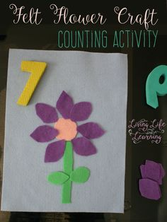 Have fun counting with this Felt Flower Craft Counting Activity