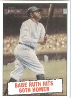 2010 Topps Heritage Baseball Card # 401 Babe Ruth BT (Baseball Thrills) New York Yankees - Mint Condition - MLB Trading Card Shipped In Protective ScrewDown Display Case! by Topps. $7.99