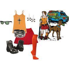 """Zombie Hunter Velma from Scooby Doo"" by joybaby on Polyvore"