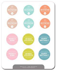 Free printables // Sweet home // Invitation // Make a wish // Happy birthday