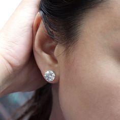 2 Ct Black Diamond AAA 4 Prong Martini Solitaire Stud Earrings 14K Yellow Gold