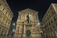 Piazza San Fedele with the monument of Alessandro Manzoni near Duomo,Milan. Milan, Louvre, Building, Travel, Italy, Construction, Trips, Buildings, Viajes