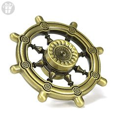 Fidget Spinner Toy Stress Reducer Bronze Rudder Design Perfect For Adults and Children with Autism, ADHD, OCD, Hyperactivity - Fidget spinner (*Amazon Partner-Link)