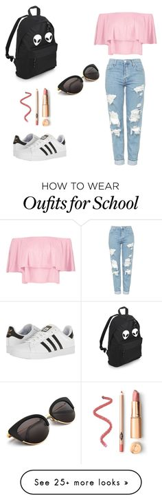 """Pastel kinda aesthetic"" by maika-jenyl-quintero on Polyvore featuring Boohoo, Topshop and adidas"