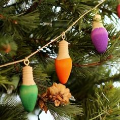 Make these simple dip-dyed lights and use them for garland, ornaments, gift toppers, or jewelry!