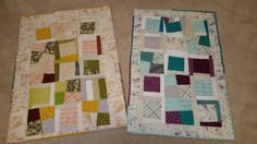 My improv quilts using Highlands and Rhoda Ruth fabric