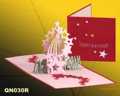 Homemade Greeting Cards | ... cards, Birthday star 2 handmade pop up greteting cards factory