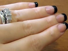 DIY Perfect Black French Tip Manicure