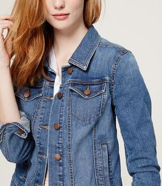 light wash jean jacket - perfect for summer!