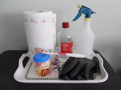 How to Remove the Smell of Dog Urine from Carpets - the items pictured are all you need to get rid of the odor of dog urine from your carpets. No expense, no chemicals, no fuss - no worries! Take a look and also find out about a clever gadget which will find dried urine on your carpets - that you may not be able to see, but you sure can smell!