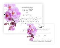 Nice Orchid Wedding Invitation By JLOriginalDesigns On Etsy, $3.00