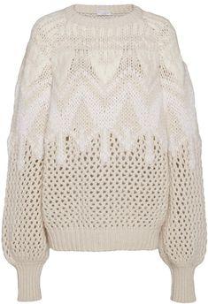 Brunello Cucinelli Intarsia-Knit Cashmere and Silk-Blend Sweater Size: Knitwear Fashion, Knit Fashion, Fashion Scarves, Fashion Fashion, Intarsia Knitting, Cashmere Beanie, Vintage Fashion 1950s, Vintage Hats, Victorian Fashion