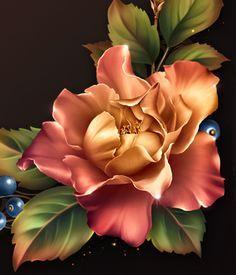 Moonbeam& Early Autumn Roses - Pinturas al óleo - Moonbeam& Early Autumn Roses - Art Floral, Art Mural Floral, Autumn Rose, Fall Color Palette, Cg Artist, Blooming Rose, Vintage Diy, Community Art, Flower Photos