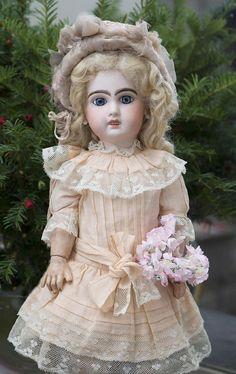 """16 1/2""""(42 cm) Bebe Jumeau with open mouth from respectfulbear on Ruby Lane"""
