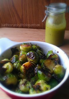 Roasted Brussels Sprouts with Meyer Lemon Vinaigrette | Livin' the Crunchy Life