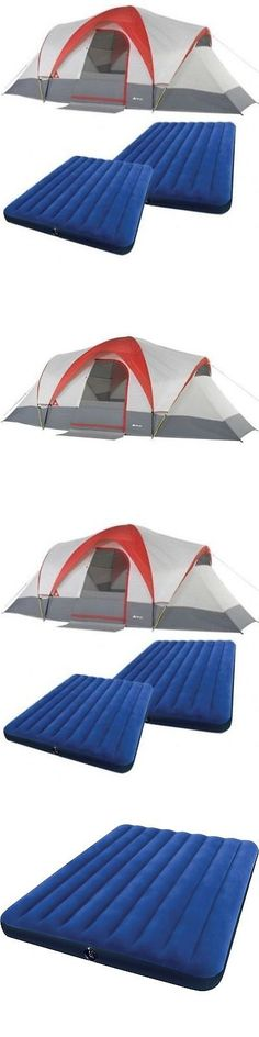 Tents 179010 Large Outdoor Tent 9 Person C&ing Hiking Family Cabin With 2 Queen Airbeds  sc 1 st  Pinterest & Tents 179010: Slumberjack Daybreak 4 Person 3 Season Camping ...