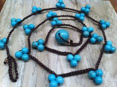 Cluster Turquoise Colored 4 mm Magnesite Beaded by wandandwear, $26.00